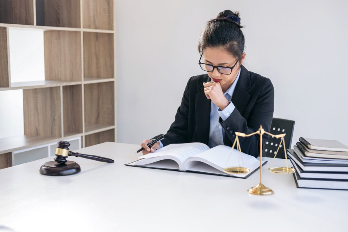 Professional female lawyer