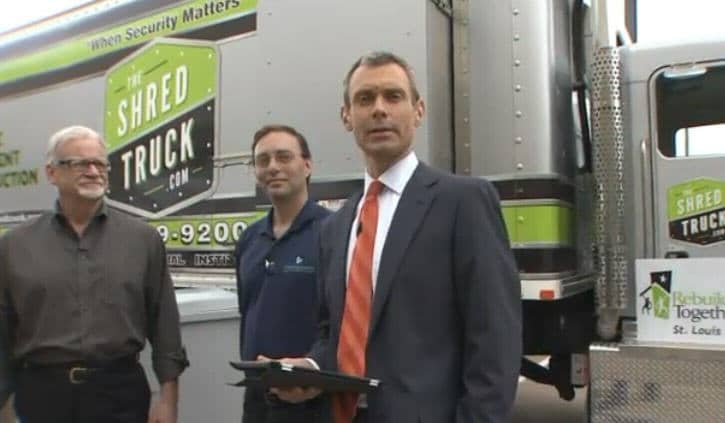 The Shred Truck featured on KLRP St. Louis