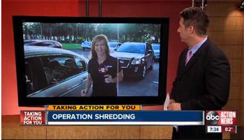 Operation Shredding segment on the news