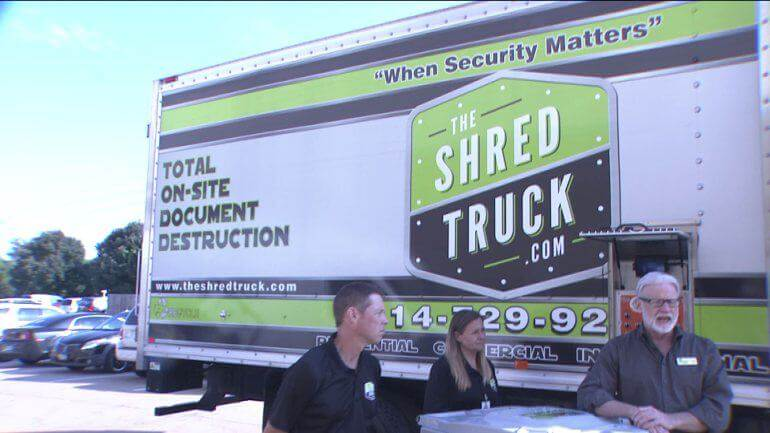 The Shred Truck during an on-site shredding service